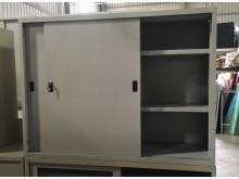 [8成新] (二手)四尺鐵拉門鐵櫃辦公櫥櫃有輕微破損