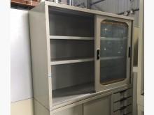 [8成新] (二手)四尺玻璃拉門鐵櫃辦公櫥櫃有輕微破損