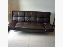[8成新] 沙發床 皮製沙發床有輕微破損