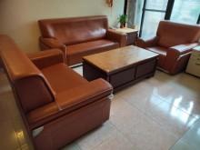 [9成新] 高級牛皮全套沙發多件沙發組無破損有使用痕跡