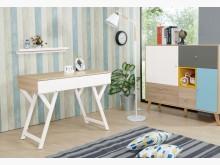 [全新] 隆研3.3尺雙抽書桌書桌/椅全新