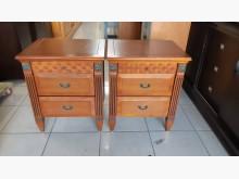 [9成新] 樟木實木造型床頭側櫃一對床頭櫃無破損有使用痕跡