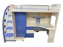 [9成新] B61305 *白藍色兒童床*單人床架無破損有使用痕跡