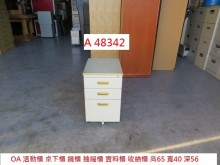 [8成新] A48342 OA活動櫃 桌下櫃辦公櫥櫃有輕微破損