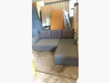 [9成新] 【尚典中古家具】鐵灰色右L布沙發L型沙發無破損有使用痕跡