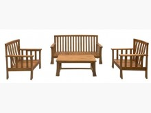[全新] 庫存柚木1+1+3+大茶几木沙發木製沙發全新