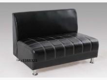 [全新] 高上{全新}西餐廳沙發座椅(黑色雙人沙發全新