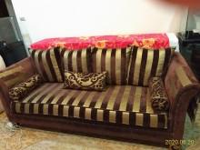[9成新] 拍賣:歐式風格沙發三 + 一人座多件沙發組無破損有使用痕跡