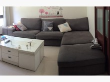 [9成新] IKEA L型沙發+一張活動椅L型沙發無破損有使用痕跡