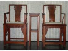 [7成新及以下] 古董太師椅椅子有明顯破損