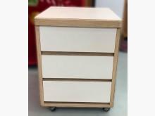[7成新及以下] B62311白色半實木3抽收納櫃收納櫃有明顯破損