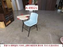 [8成新] A49021 藍 單人課桌椅書桌/椅有輕微破損