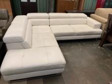 [9成新] 皇齊義大利半牛皮L型沙發組L型沙發無破損有使用痕跡