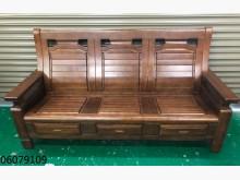 [9成新] 06079109 3人木製沙發木製沙發無破損有使用痕跡