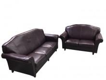 [9成新] A60607*1+3紫皮沙發*多件沙發組無破損有使用痕跡