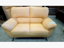 [8成新] 大台北二手傢俱-雙人皮沙發雙人沙發有輕微破損