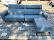[全新] 大鑫 新品蒼青藍L型貓抓皮沙發L型沙發全新