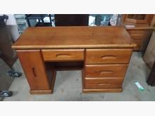 [9成新] 【尚典中古家具】柚木色窄型書桌書桌/椅無破損有使用痕跡