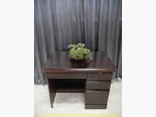 [9成新] 二手胡桃色100公分四抽書桌書桌/椅無破損有使用痕跡