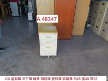 [8成新] A48347 OA活動櫃 桌下櫃辦公櫥櫃有輕微破損