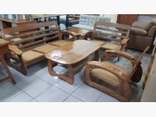 [9成新] 九成新橡木實木木沙發組木製沙發無破損有使用痕跡