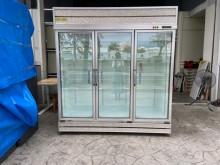 [8成新] 吉田二手傢俱❤三門玻璃冰箱營業用冰箱有輕微破損
