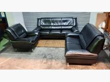 [8成新] 黑色半牛皮1+2+3沙發多件沙發組有輕微破損