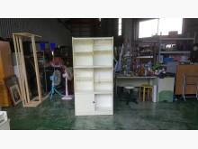[7成新及以下] 合運二手傢俱~白色玻璃書櫃書櫃/書架有明顯破損