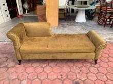 [9成新] 香榭家具*墨綠色絨布 6尺貴妃椅其它沙發無破損有使用痕跡