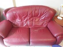 [7成新及以下] 真皮沙發(2人座)雙人沙發有明顯破損