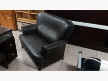 [9成新] 歐式造型透氣皮2人座沙發雙人沙發無破損有使用痕跡
