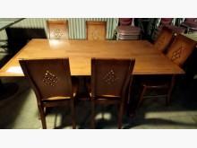[9成新] 大台北二手傢俱-實木餐桌組餐桌椅組無破損有使用痕跡