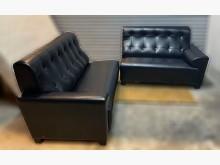 [8成新] 黑色皮沙發雙人沙發有輕微破損