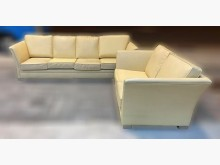 [8成新] 鵝黃4+2皮沙發多件沙發組有輕微破損