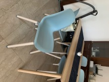 [9成新] LEIFARNE 餐椅 天藍*4餐椅無破損有使用痕跡