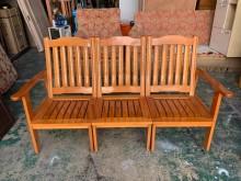 [9成新] 松木實木沙發 *木製沙發*木椅*木製沙發無破損有使用痕跡