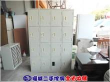 [9成新] 權威二手傢俱/4尺16格員工櫃辦公櫥櫃無破損有使用痕跡