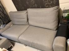 [9成新] [可議價]兩人座沙發+正方形椅多件沙發組無破損有使用痕跡