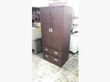 [9成新] 九成新桃木色三尺實木衣櫃衣櫃/衣櫥無破損有使用痕跡