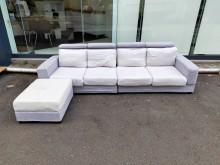 [9成新] 9.5尺L型布沙發含輔助椅*沙發L型沙發無破損有使用痕跡