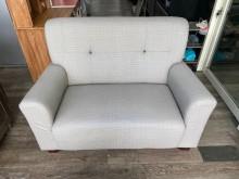 [9成新] 吉田二手傢俱❤簡約貓抓皮雙人沙發雙人沙發無破損有使用痕跡