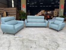 [全新] 新品薄荷綠1+2+3貓抓皮沙發多件沙發組全新