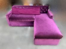 [9成新] A72403*紫色拉鑽L型沙發L型沙發無破損有使用痕跡