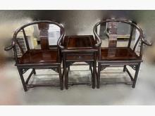 [95成新] 黑檀木公婆椅(一桌2椅)木製沙發近乎全新