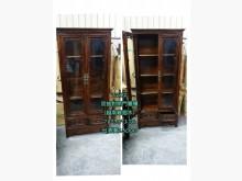 [9成新] 閣樓2202-雙抽對開門書櫃書櫃/書架無破損有使用痕跡