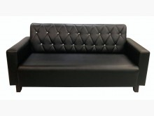 [全新] SX807DA全新3人座黑皮沙發雙人沙發全新