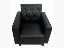 [全新] SX807BA全新單人座黑皮沙發單人沙發全新