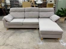 [9成新] 大慶二手家具 灰色L型布沙發L型沙發無破損有使用痕跡