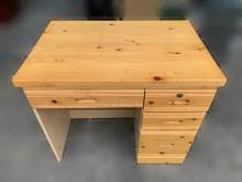 [95成新] B80903*木色4抽書桌書桌/椅近乎全新