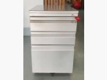 [8成新] C81801*銀色3抽活動櫃*辦公櫥櫃有輕微破損
